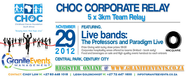 Choc Corporate Relay for November