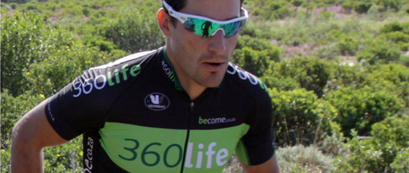 Kevin Evans aims at Xterra Knysna 2012