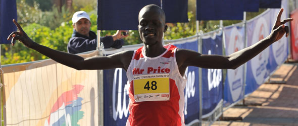 Augustine Maiyo wins Cape Town Marathon