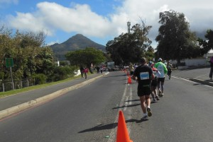 Road for runners, 39 km done, 18 km to go