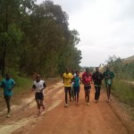 Soweto Kenyans training near Shaft 17